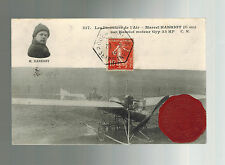 1910 Rouen France Early airmail Postcard cover Local Issue Air Stamp Aviation