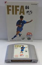 Games Gioco Game Console N64 NINTENDO 64 Play PAL EUR - FIFA 64 - EA Sports - -