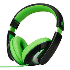Boys Girls Kids Over-Head DJ Headphones iPod MP3 MP4 DVD PC Kindle Green Black