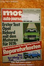 MOT 10/75Opel Rekord Alfetta 1.6 Fiat 126 NSU TT