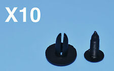 10 X OPEL ASTRA BLACK PLASTIC RIVETS CLIPS FITTING TRIM PANELS