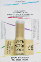 Sugarflair Antique Gold Lustre Dust Powder, 7ml, Edible Sparkly Food Colour Tint