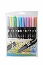 TOMBOW PENNA PENNELLO 12 Colori Pastello Set. DOUBLE si è conclusa artista & Craft MARKER PENNE