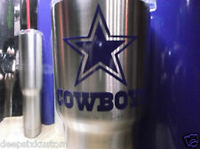 Dallas Cowboys Decal for YETI Rambler,Tumbler, Car,Truck, Beer Mug in Royal Blue