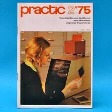 DDR practic 2/1975 Wasserfahrrad Raumteiler Practica Blumenbank Drehzahlmesser Q