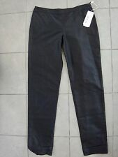 VALENTINO Black silk trousers pants size 10 Italy $990 New