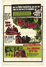 WITCHCRAFT/THE HORROR OF IT ALL Movie POSTER 27x40 Lon Chaney Jr. Jack Hedley