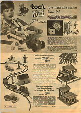 1970 ADVERTISEMENT Blocks Tog'l Lego Starter Train Lincoln Logs Elasti-Motor