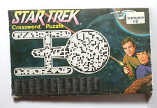 1978 Star Trek Crossword Puzzle Book w Fold Out Poster- Unmarked-FREE S&H(C5573)