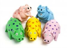 Multipet - Globlet Latex Pig 9in - Various Colors  (Sold Individually)