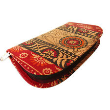 India Shantiniketan Real Leather Batik Clutch Bag Women's Wallet Purse Handmade