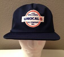 Vintage Unocal Union 76 Oil Gas Adjustable Snapback Trucker Hat Cat Embroidered