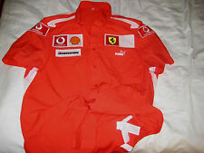 SCUDERIA FERRARI PUMA RACING PIT CREW DRIVERS MULTI LOGO SEWN PATCHES SHIRT- XL