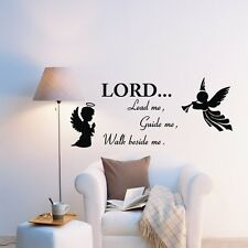 Lord Lead Me Guide Prayer Quote Saying Wall Art Stickers Decal Mural Vinyl
