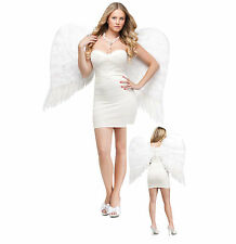 Large Feathered White Wings Angel Sexy Adult Halloween Costume Accessory 28""