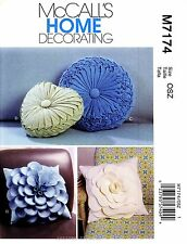 McCall's Sewing Pattern M7174 Pillows Flowers Heart Round Smocking Floral 7174