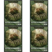 4 x SAPROLING TOKEN NM mtg M14 Green - Creature Token
