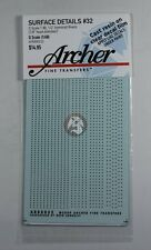 "Archer O-Scale (1/48) Railcar Resin Rivets (7/8"" head 4 spacings) AR88032"