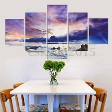 5Pcs/set HD Canvas Print Wall Art Painting Scenery Picture Home Decor No Frame
