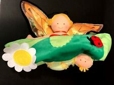 Butterfly Queen & Baby Caterpillar Topsy Turvy Doll North American Bear Co NWOT