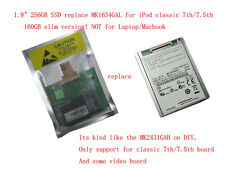 "For iPod classic 7th 256GB 1.8"" half tall CE SSD replacement MK1634GAL MK2431GAH"