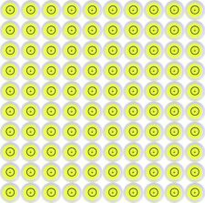 100 x 14mm X 8mm Disc Bubble Spirit Level Round Circular Circle Yellow NEW