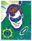 GREEN LANTERN NEON Style Pin Up Poster DC Hal Jordan