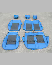 VOLKSWAGEN VW TRANSPORTER T4 BLUE & BLACK VAN SEAT COVERS
