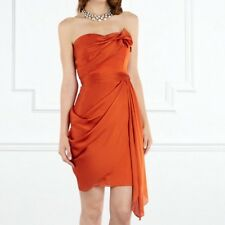 "BNWT "" COAST "" Size 16  MAHIKI BURNT ORANGE BANDEAU EVENING WEDDINGS PARTY DRESS"