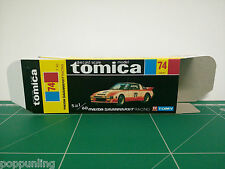 REPRODUCTION BOX for Tomica Black Box No.74 Mazda Savanna RX-7 Racing