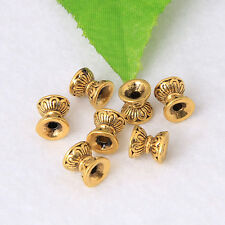 10PCS Brass Hourglass Retro Spacer Charm Beads Metal Jewelry Making Finding 8mm