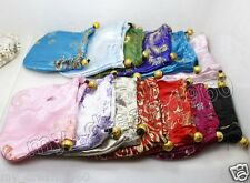 10PC Chinese Vintage Silk Coin Purse Women 4X4'' Pouch Change Ring Jewelry Bags