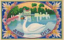 Juego Oca swan  original Spanish Orange Crate label