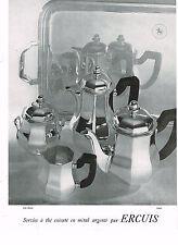 PUBLICITE ADVERTISING 024   1953   ERCUIS   art de la table  service à thé