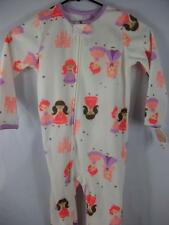 Girls Child of Mine by Carter's Princess Print Blanket Sleeper Pajamas 4T NWT