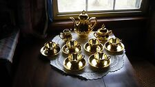 Children's Gold Tea Set - Teapot Music Box, Creamer, Sugar and 6 Mini Tea cups