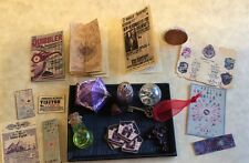 Custom Dollhouse Miniature Harry Potter Collection Lot Paper Craft +Genuine Ruby