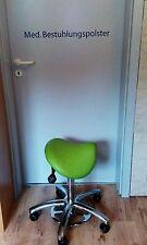 Drehstuhl Rollhocker Arbeitsstuhl Sattelhocker mit Fußauslösung (Farbe n. Wahl)