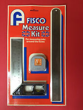 FISCO MEASURING KIT (12' RULER, 6ft TAPE, SET SQUARE WITH SPIRIT LEVEL)
