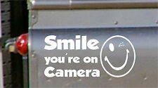 Vehículo en coche cámara de grabación sticker-smile Cctv sign-van, Camión, Camioneta, Taxi, Bus