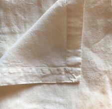 """Bettüberwurf Lacken mit Briefecken 100%Leinen 235x235 cm """"Stonewashed"""" Milchweiß"""