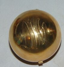 1930's Rare Vintage Gold Christmas Ball Figural Powder Compact by Henriette