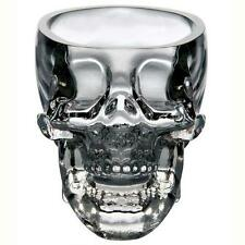 Crystal Glass Vodka Whiskey Skull Head Shot Cup Drinking Ware Home & Bar 73ml SS