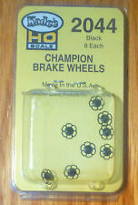 Kadee #2044 Champion (Black)  Brake Wheels (8)