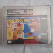 Mario's E.Y. Preschool Fun: (Super Nintendo, SNES) NEW SEALED VGA 90, GOLD!