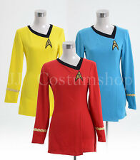 Star Trek The Female Duty Uniform Dress Costume (Blue/Red/Yellow)