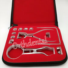 Dental Rubber Dam Kit Separator rubber dam rubber dam punch Clamp forceps 12PCS