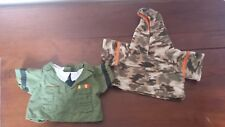 Build a Bear Outfit Clothing US Military Camo Army Officer shirt and hoodie