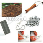 Branding Iron BBQ Barbeque Tool Set Changeable Letters Meat Steak Burger DIY CAE