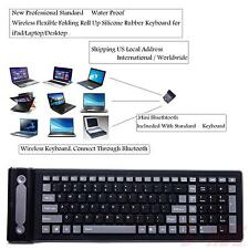Flexible2.4g Mini Wireless Silicone Keyboard Spillproof Roll up Portable Folding